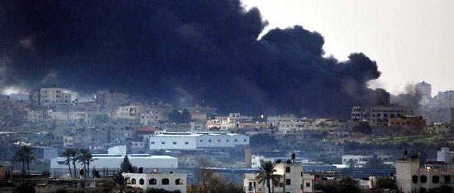 La ville de Gaza sous les raids israéliens