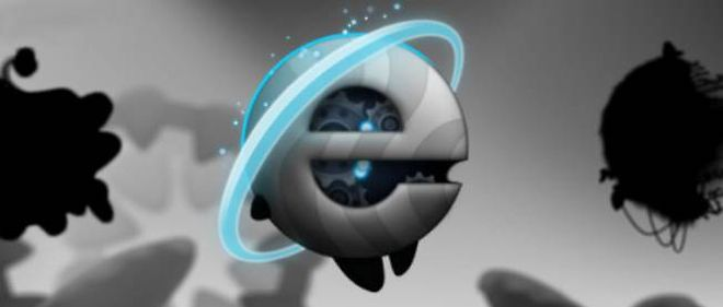 Le logo d'Internet Explorer, dans l'application ContreJour.