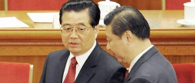 Hu Jintao et Xi Jinping.