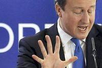 David Cameron pourrait faire échouer les négociations. © Remy de la Mauvinière / AP/Sipa