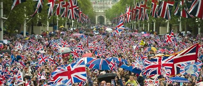 Londres, lors des festivités pour le jubilé de la reine.