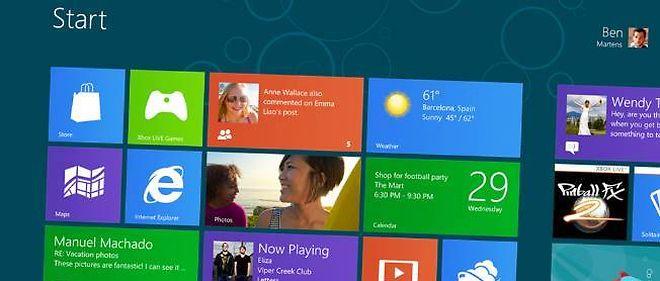 """Le nouveau bureau de Windows : exit le menu démarrer, bienvenue aux """"vignettes dynamiques""""."""