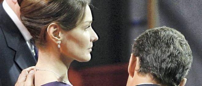 Carla Bruni et Nicolas Sarkozy lors de l'inauguration de l'Exposition universelle de Shanghai en avril 2010.