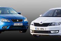 La Seat à gauche, la Skoda à droite, faites votre choix au jeu des sept différences. Sous ces physionomies à peine différentes, les voitures et les techniques sont les mêmes. C'est ce qui permet de tirer les prix d'une voiture