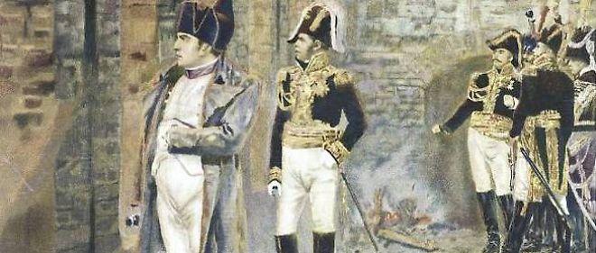 Napoléon regardant Moscou brûler par Vershchagin.