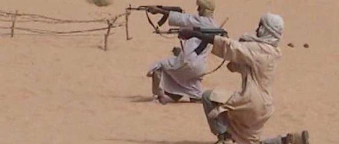 Des soldats d'Aqmi dans un centre d'entraînement au Mali.