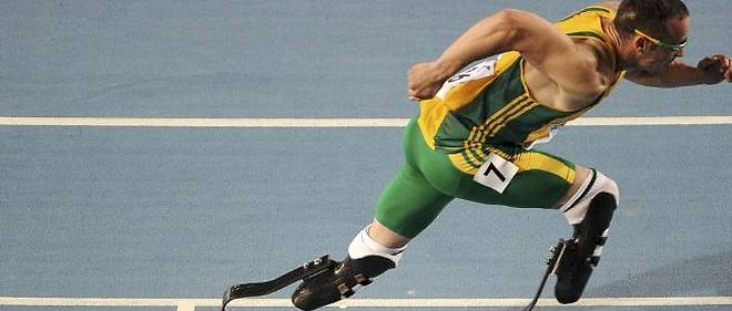 Photo d'illustration - Oscar Pistorius a mesure sa vitesse a celle d'un cheval.