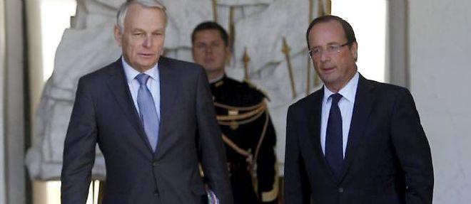 Jean-Marc Ayrault et François Hollande à l'Elysée, le 19 septembre 2012 ©Chesnot