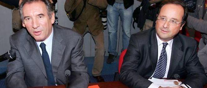 François Bayrou et François Hollande, ici en 2007.