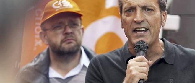 """Le leader local de la CFDT, Édouard Martin (à gauche), a affirmé mardi que Florange était l'un des sites """"les plus rentables"""" en s'appuyant sur un document interne."""