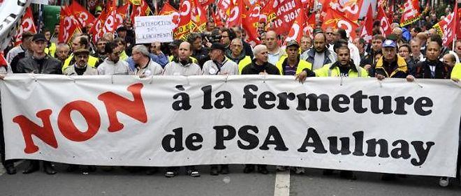 C'est au tour des salariés du syndicat SUD de manifester leur mécontentement à l'usine PSA d'Aulnay.