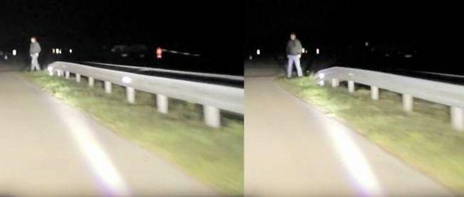 Guidé par la caméra thermique, le projecteur LED intégré aux antibrouillards illumine le piéton s'apprêtant à traverser la route.