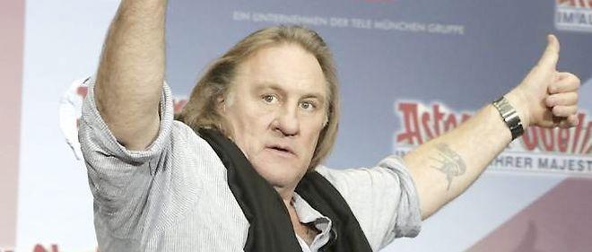 Gérard Depardieu lors de la promotion du nouvel Astérix.