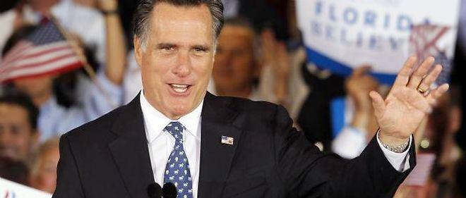 Mitt Romney en campagne, en février 2012.