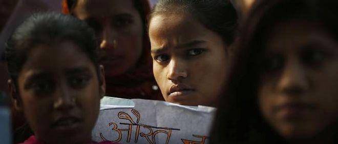 Des manifestations ont eu lieu le 25 décembre à New Delhi après le viol collectif d'une étudiante.