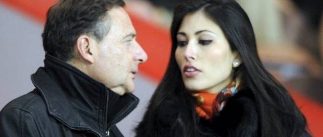 Éric Besson et sa deuxième femme, Yasmine, le 14 janvier 2012.