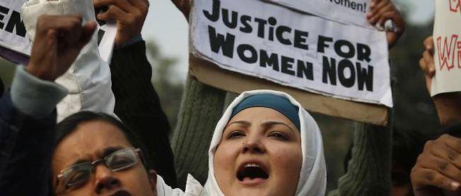 Manifestation contre les violences faites aux femmes, New Delhi, 27 décembre 2012.