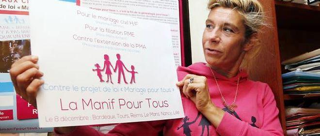 L'opposante au mariage gay prépare le terrain en prévision de la manifestation du 13 janvier.