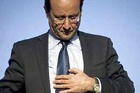 François Hollande et son nouveau conseiller en communication Claude Sérillon. ©Dufour/AFP/Benaroch/Sipa