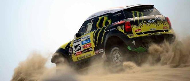 Nani Roma, ici lors de la première étape, s'impose pour la première fois sur ce Dakar.