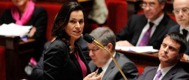 Aurélie Filippetti, ministre de la Culture, à l'Assemblée nationale.