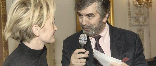 Stanislas Lefebvre de Laboulaye et la chanteuse Patricia Kaas à Moscou, où il fut ambassadeur de 2006 à 2008.