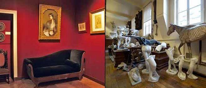 L'ancienne maison d'Eugène Delacroix et la galerie de morphologie des Beaux-Arts.