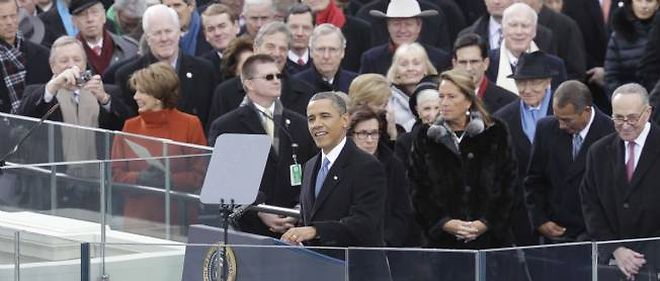 Investiture de Barack Obama, a Washington, le 21 janvier 2013.