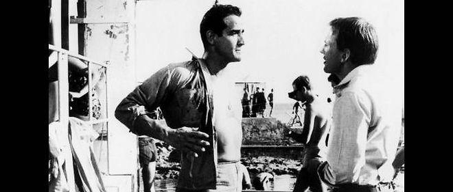 Vittorio Gassman et Dino Risi en 1962.