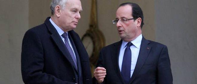 Le Premier ministre Jean-Marc Ayrault et le président François Hollande.