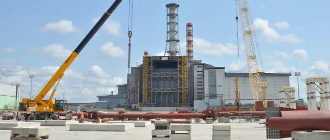 Le site de Tchernobyl avant l'incident de mardi.