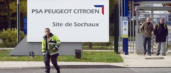 Le site PSA Peugeot Citroën de Sochaux. © AFP PHOTO / SEBASTIEN BOZON
