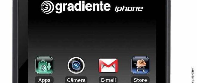 """Gradiente, une entreprise brésilienne, avait demandé l'enregistrement de la marque """"Gradiente iPhone"""" en 2000 et l'avait obtenu en 2008."""