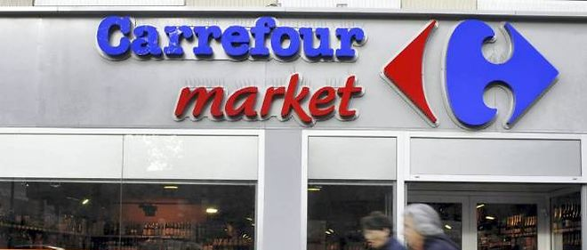Photo d'illustration : un supermarche Carrefour en France.
