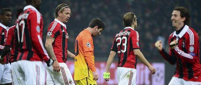 Les Catalans n'ont rien réussi à faire aux Milanais, qui ont livré un match parfait.