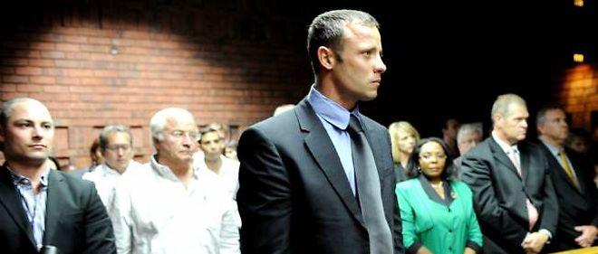 Oscar Pistorius au tribunal de Pretoria, mercredi.