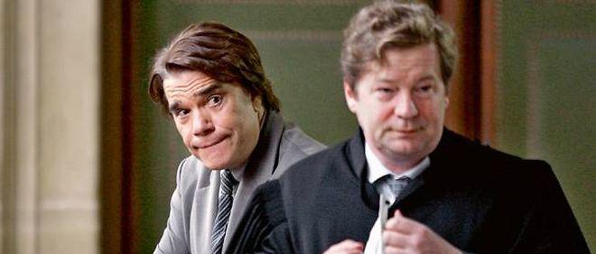 Bernard Tapie et son avocat Bernard Lantourne, ici en 2005 au tribunal correctionnel de Paris. Bernard Tapie était accusé de fraude fiscale.