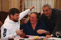 Gérard Depardieu a été reçu à Grozny par Ramzan Kadyrov, le président de la République de Tchétchénie. ©Said Tcarnaev