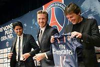 Nasser Al-Khelaifi, David Beckham et Leonardo. ©Martin Bureau