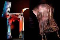 Un briquet Dupont, un corset Cadolle et une chaussure Pierre Corthay passés aux rayons X par le collectif LuxInside.
