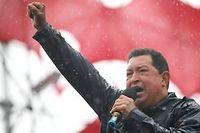 Hugo Chávez lors de la campagne présidentielle en octobre 2012. ©AP Photo/Rodrigo Abd