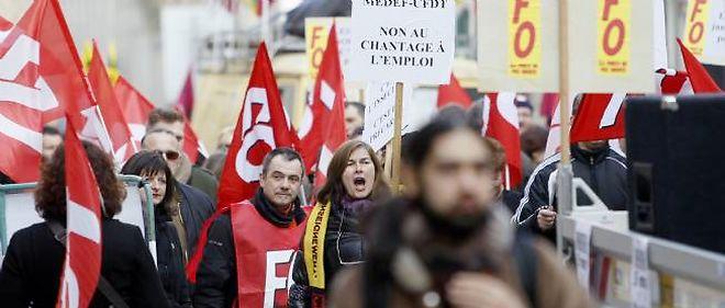 Manifestation à Nancy contre l'accord de sécurisation de l'emploi.