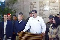 Nicolas Maduro annonçant la mort de Hugo Chavez, le 5 mars 2013.