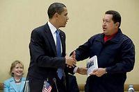 Barack Obama et Hugo Chávez, en avril 2009.