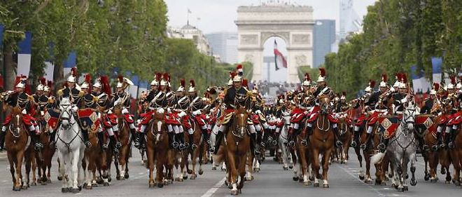 Defile du 14 Juillet a Paris.