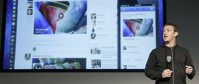 Mark Zuckerberg, cofondateur de Facebook, a présenté son nouveau fil d'actualités