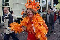 Le 30 avril, jour de la reine aux Pays-Bas, est l'occasion d'une débauche d'orange. (Ici en 2003). ©Warshavsky/Baubau