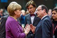 Angela Merkel et François Hollande. ©Geert Vanden Wijngaert