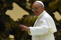 Le pape François au Vatican, samedi. ©Giuseppe Cacace