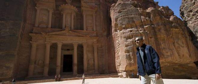 Barack Obama sur le site de Petra, en Jordanie.